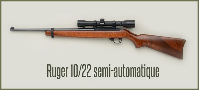 Carabine Ruger 10 12 semi automatique
