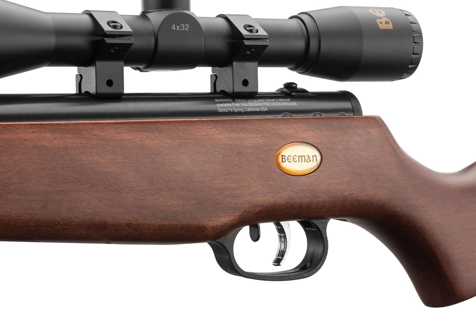 Zoom sur une carabine a plomb Beeman.