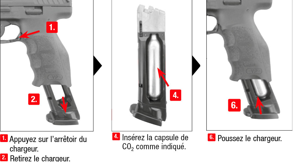Charger Une Capsule Co2 Carabine 224 Plomb